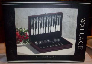 Wallace Silversmiths Silver Flatware Chest Storage Box srv for 12 NEW