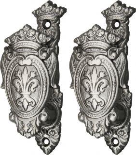 /Dagger/Cane/Gun Hanger~Fleur De Lis Shield~Wall Display~Cast Metal