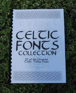 Book of Celtic Tattoo Lettering Fonts   A1 Collection