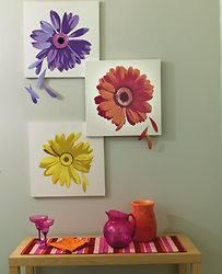 Wallies Large Gerber Daisy Flowers Wall Art Decor Mural/Free Sh