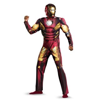 The Avengers Iron Man Mark 7 Muscle Jumpsuit Costume Adult *New*