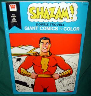 SHAZAM, GIANT COMICS TO COLOR, COLORING BOOK, DOUBLE TROUBLE, 1978