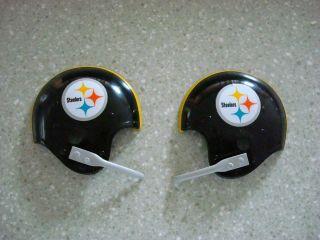 Vintage Pittsburgh Steelers Football Bicycle Helmet Hubcaps 1969 Super