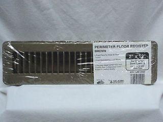 Brown Floor Register Vent 2 x 12 Heat Furnace Mobile Home