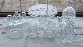 Pcs Fostoria Coin Glass Crystal Cake Stand Bowls Wedding Bowl