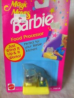 MAGIC MOVES FOOD PROCESSOR BARBIE DOLL KITCHEN ACCESSORIES NEW NRFB