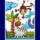 Animals Mural Stickers Decals Wall Border Nursery Animal Vinyl Decal