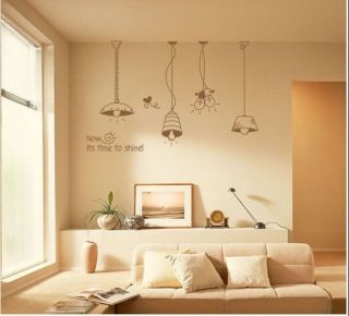 Droplight Pendent Lamp Decor Mural Art Wall Sticker Decal Y303
