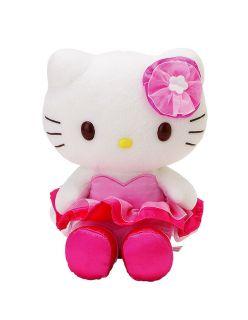 x1 GENUINE 2012 SANRIO USA HELLO KITTY PINK TUTU 8 PLUSH DOLL