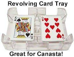 Deck Revolving (Swivel) Playing Card (Canasta, Rummy, UNO) Tray/Holder