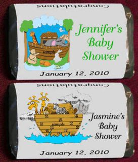 Noahs Ark Baby Shower Miniatures Candy Wrappers Personalized Party