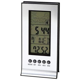 Outdoor Wireless Weather Station Alarm Clock Snooze Forecast Calendar