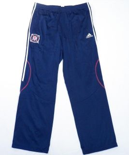 MLS Chicago Fire Navy Blue Track Pants Soccer Football Mens NWT