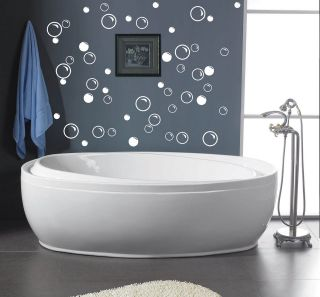 50 Large Soap Bubbles bathroom wall quote art vinyl decal sticker