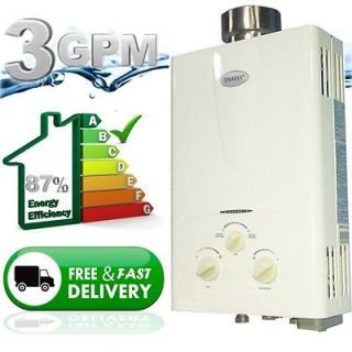 Propane Gas Tankless Hot Water Heater  Instant On Demand Whole House