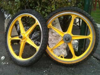 bike bicycle lester mags rims wheels pair old school freestyle parts