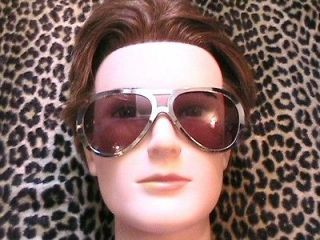 ELVIS PRESLEY AVIATOR SUNGLASSES  SILVER FRAME  MADE IN ITALY  NEW