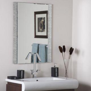 frameless mirrors in Home Decor