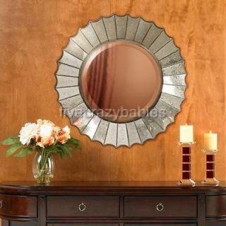 VENETIAN SUNBURST Wall Vanity Mirror Round  Etched Glass
