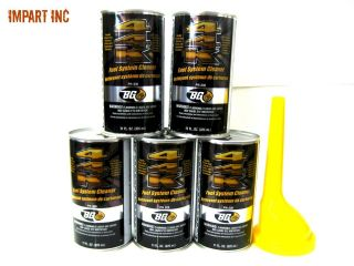 BG 44K BG44K Fuel System Cleaner Power Enhancer 5 Cans With Funnel