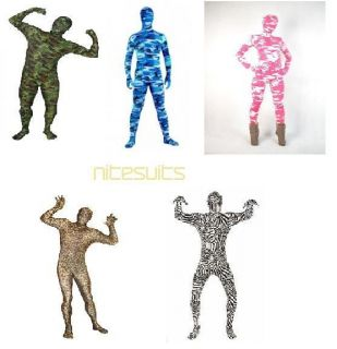 Spandex Body Suit   Full Body Camo Zentai Patterns   Animal Costumes