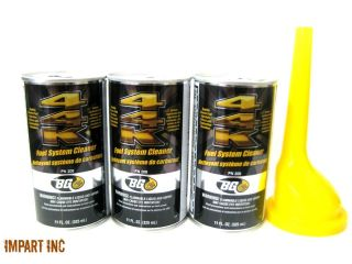 BG 44K BG44K Fuel System Cleaner Power Enhancer 3 Cans With Funnel