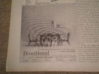 1956 Directional Furniture RARE Small Ad Table Chairs by Paul McCobb