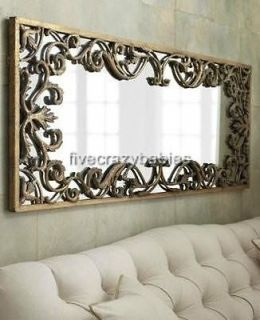 Ornate Baroque FULL LENGTH Gold Scroll Wall Mirror Extra Large Long