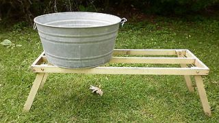 VINTAGE Primitive Wash Tub Stand   Will Hold 2 Tubs Any Shape Orig