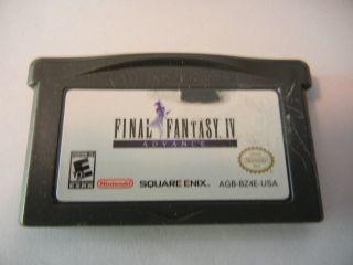 FINAL FANTASY IV 4 GAMEBOY ADVANCE GAME GBA~~~
