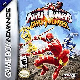 NINTENDO GAME BOY ADVANCE POWER RANGERS DINO THUNDER VIDEO GAME