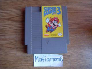 Super Mario Bros. 3 Nintendo NES Cartridge Only 1990 Video Game 1 2