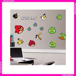 Birds 34 Big Wall Decals Room Decor Flying Pigs Game App Stickers RM1