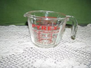 Vintage Pyrex 1 Cup 508 Measuring Cup Open Handle 508 Metric on