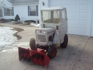 Bolens 1257 Husky Garden Tractor with snowblower and Cab 12HP