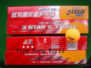 120 DHS 3 STAR TABLE TENNIS BALLS ITTF OLYMPIC BEST