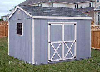 10x12 Gable Storage Shed Plans / Building Blueprints