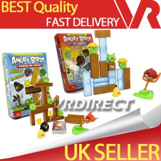 Angry Birds Knock On Wood / On Thin Ice Board Game Table Game Play Set