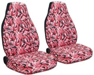 COOL GEO TRACKER CAR SEAT COVERS CAMO PINK AWESOME