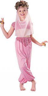Girls Pink Harem Costume Halloween Genie Girls Kids Childrens Belly