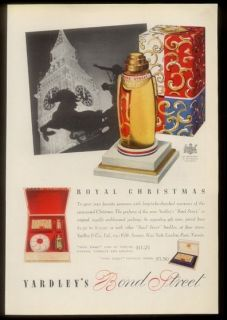 1937 Yardley Bond Street perfume bottle & Christmas box pic vintage