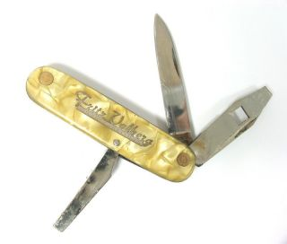 WWII WW2 FOLDING POCKET KNIFE SOLINGEN FRITZ VOLBERG *