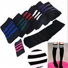 Sock Stripe Over Knee Legging Socks Girls Womens Stripe Cheerleader