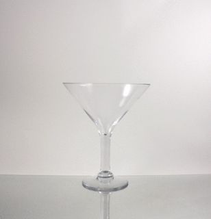 Wholesale Clear Martini Glass Vase 9 Opening x 10 Height (4pcs