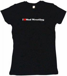 Heart (Love) Mud Wrestling Womens Tee Shirt Pick SZ