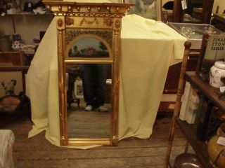 antique reverse painted mirror in Mirrors