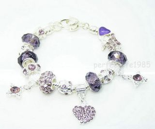 silver charm bracelet in Jewelry & Watches