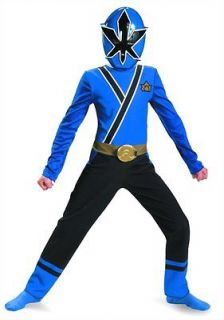 Costumes Power Ranger Blue Basic Samurai Classic Child Costume Med 7