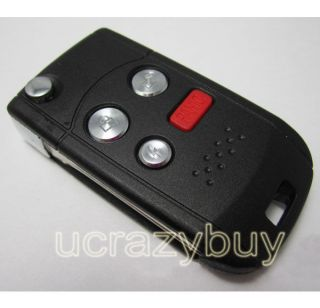 Buttons Folding Flip BLANK REMOTE Modified KEY FOB CASE SHELL and