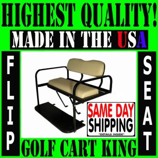 Club Car DS Golf Cart Rear Flip Back Seat Kit Cargo Bed